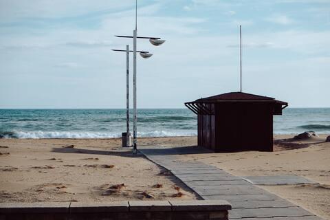 Apartamento en zona tranquila, a 500m de la playa