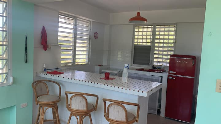 Complete lower level of house in Playa Santa