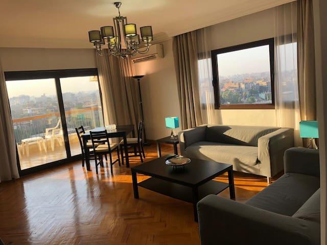 Newly finished apartment, full Nile view zamalek