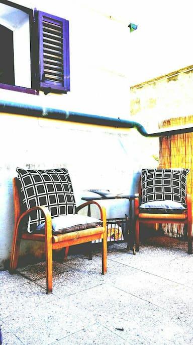 comfortable terrace