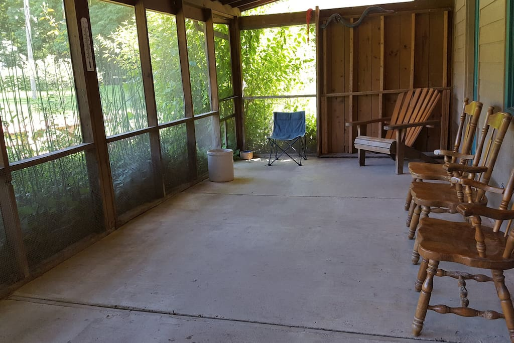 Main I screened porch
