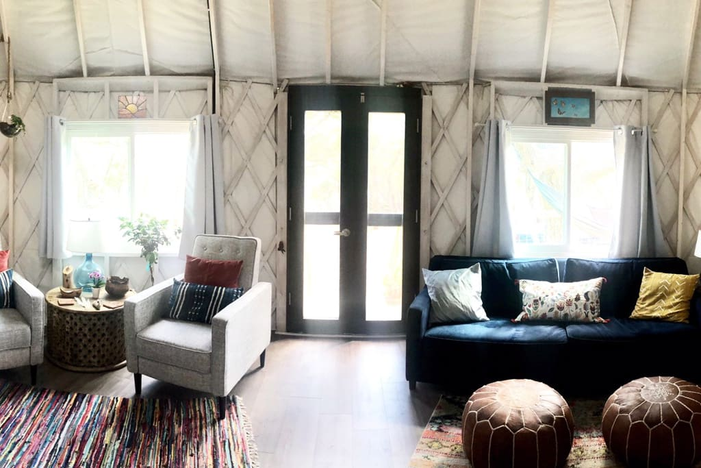 Welcome to our yurt!