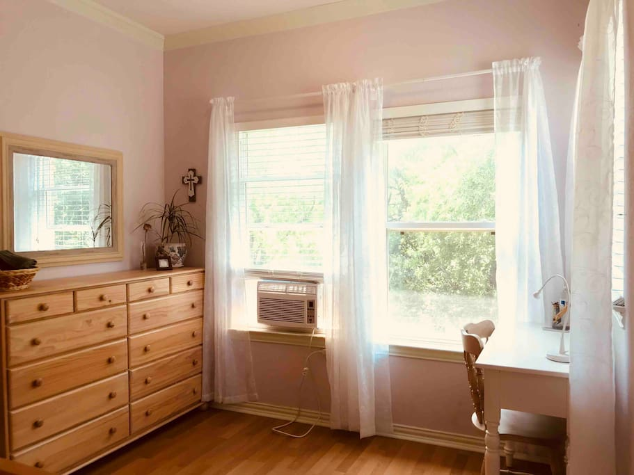 Your dresser with a nice wooded views!