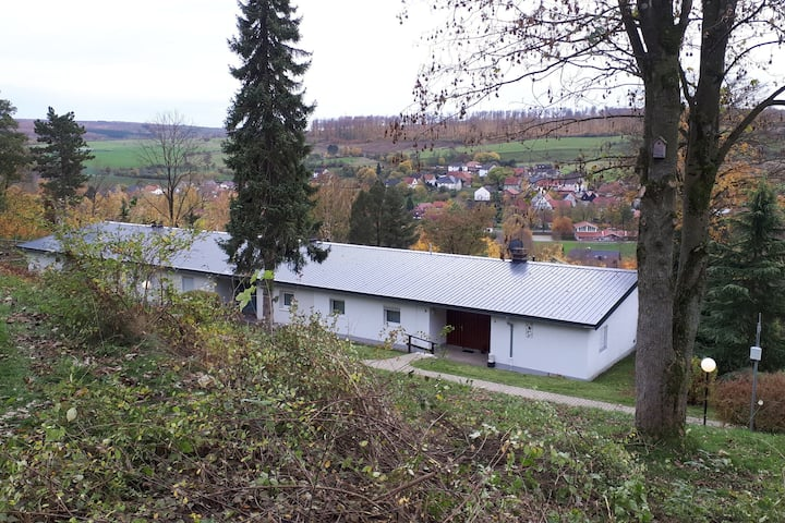 Holiday home with beautiful terrace in a bungalow park in Lichternau-Husen (Sauerland)