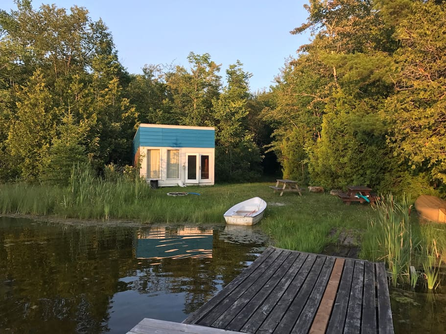 A view of the bunkie, from the dock.