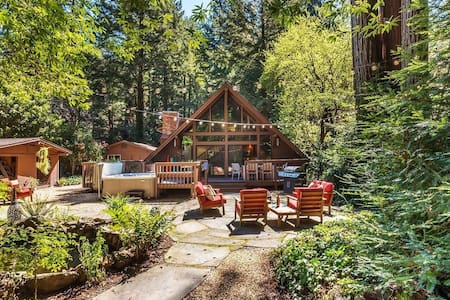 Cathedral in the Redwoods - Hot tub, Fireplace