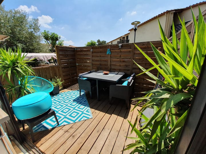 Jolie maison de vacances avec terrasse