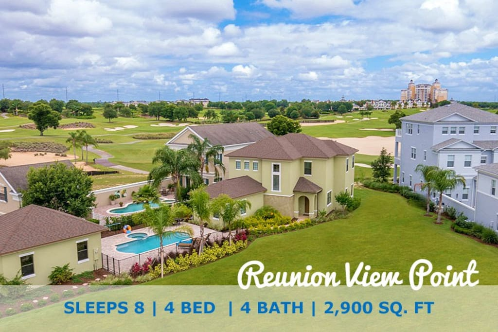 This home offers wonderful views of the Palmer Golf Course