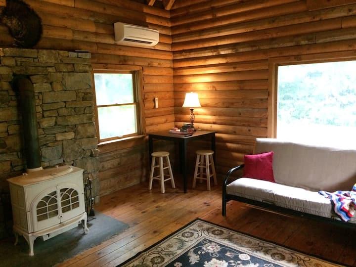 Secluded Mini Farm Log Home near Asheville