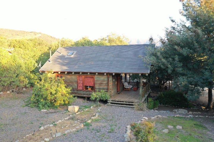Cabaña de Troncos en Olmué
