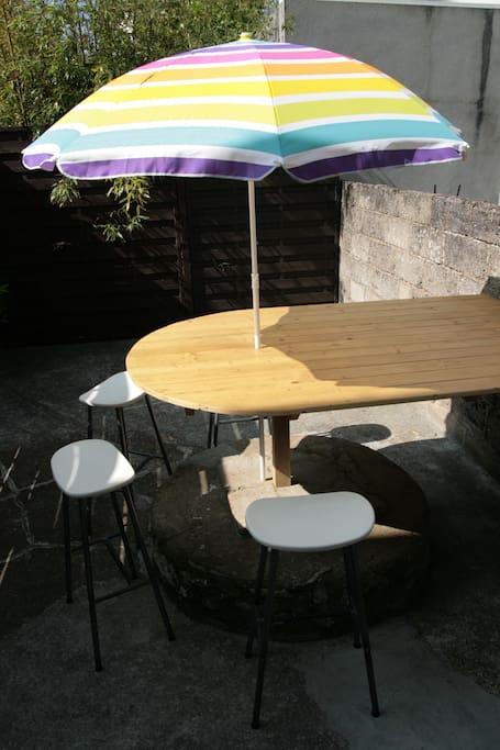 Terrasse privative 15 m2