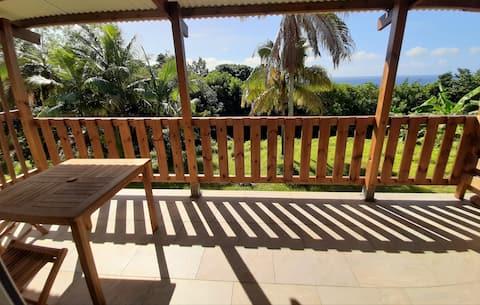 Le Multipliant: studio nine terrace sea view