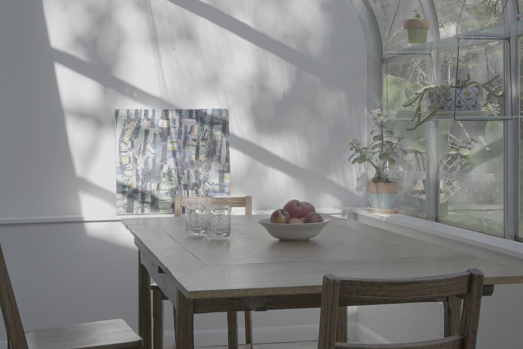 Dining area/work desk