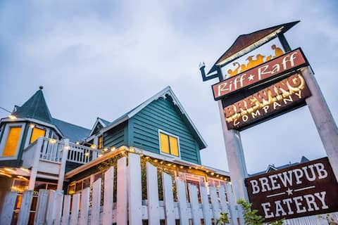 Got Beer? 3-BR Sleeps Seven Above Downtown Brewpub