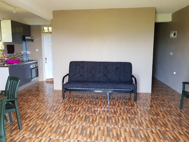 Living room convertible couch/double bed