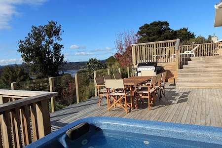 The Deck House - water views and native bush - Opua