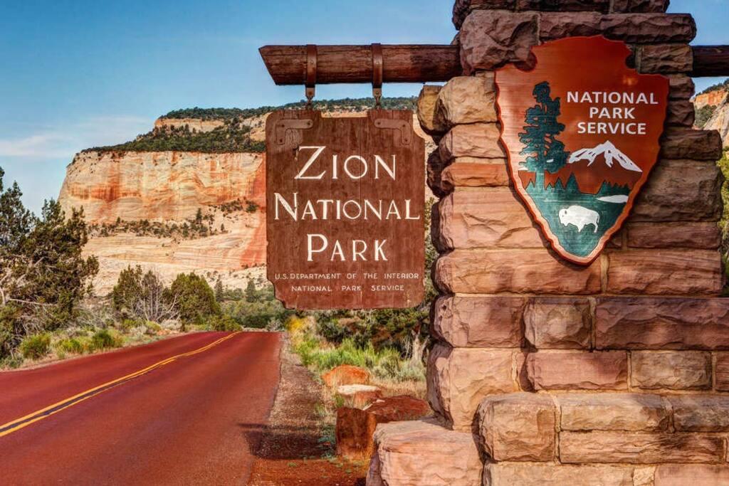 Zion park entrance just a 30min drive.
