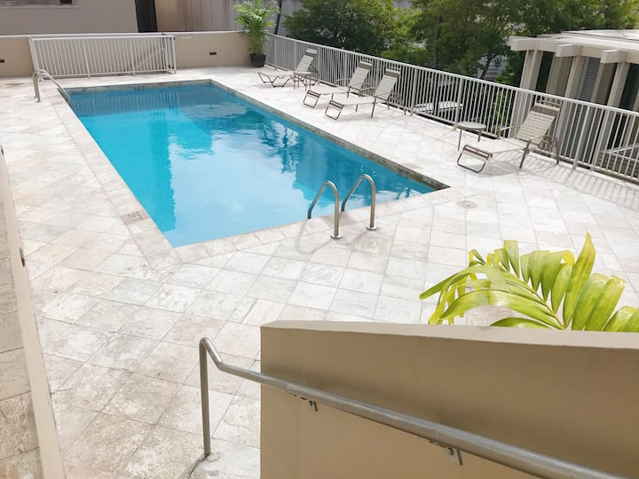 WAIKIKI - 5min walk to beach w/pool, free parking