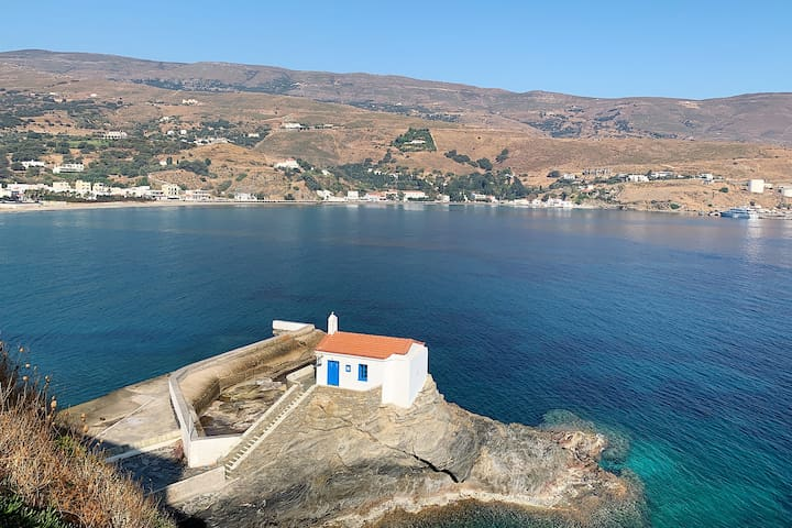 MOSCHA TRADITIONAL VILLA - Endless Aegean Sea view