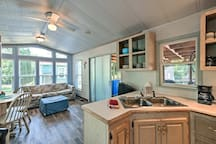 Socialize with the chef in this open-concept kitchen!