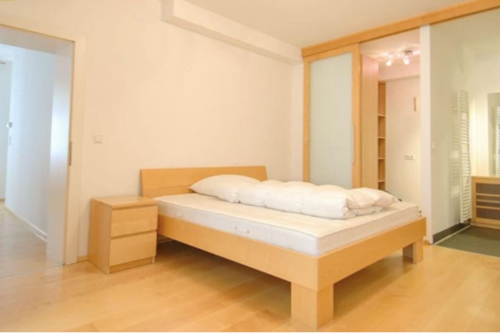 Spacious bedroom and cupboard