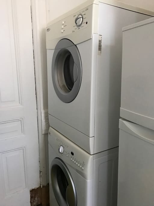 New Washer & Dryer! Pack less clothes!
