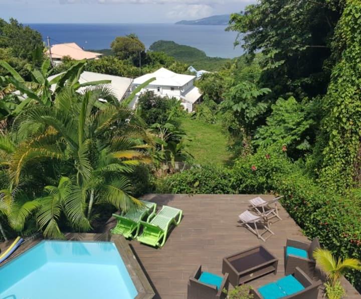 Cocosun Lodge Vue Mer, Montagne & Piscine