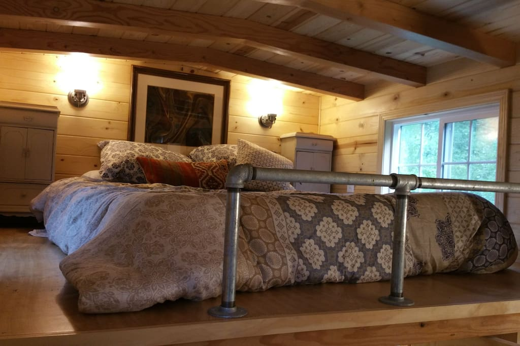 The Tranquil loft with queen bed.