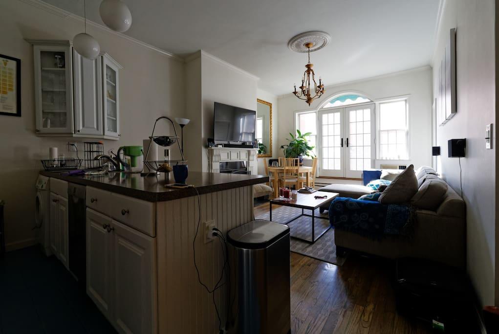 Living room, alternate view