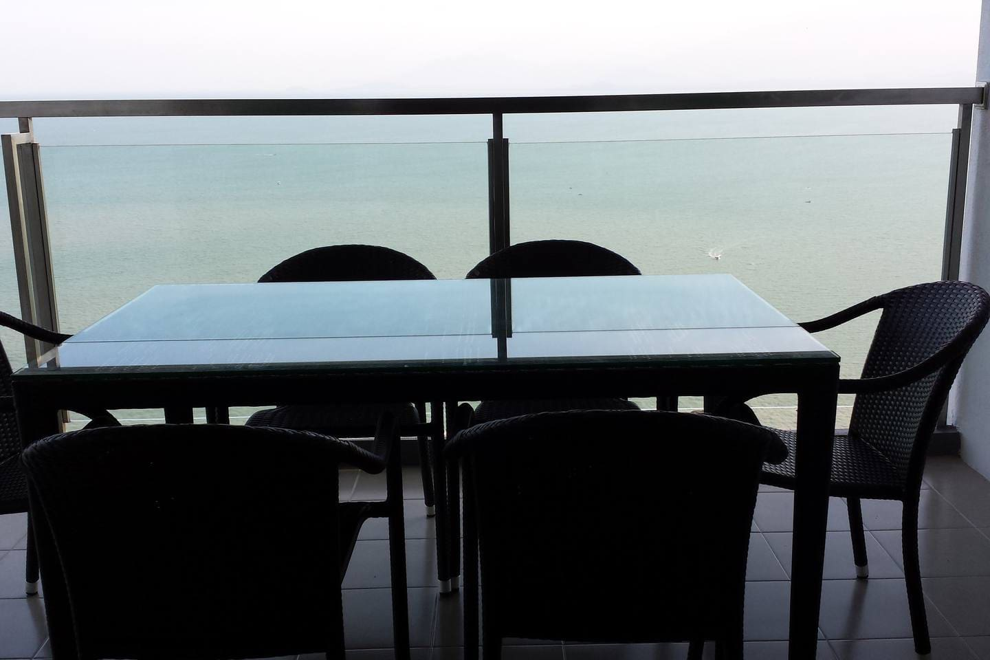 Enjoy breakfast with sea breeze on a huge balcony with full view of the Andaman Sea.