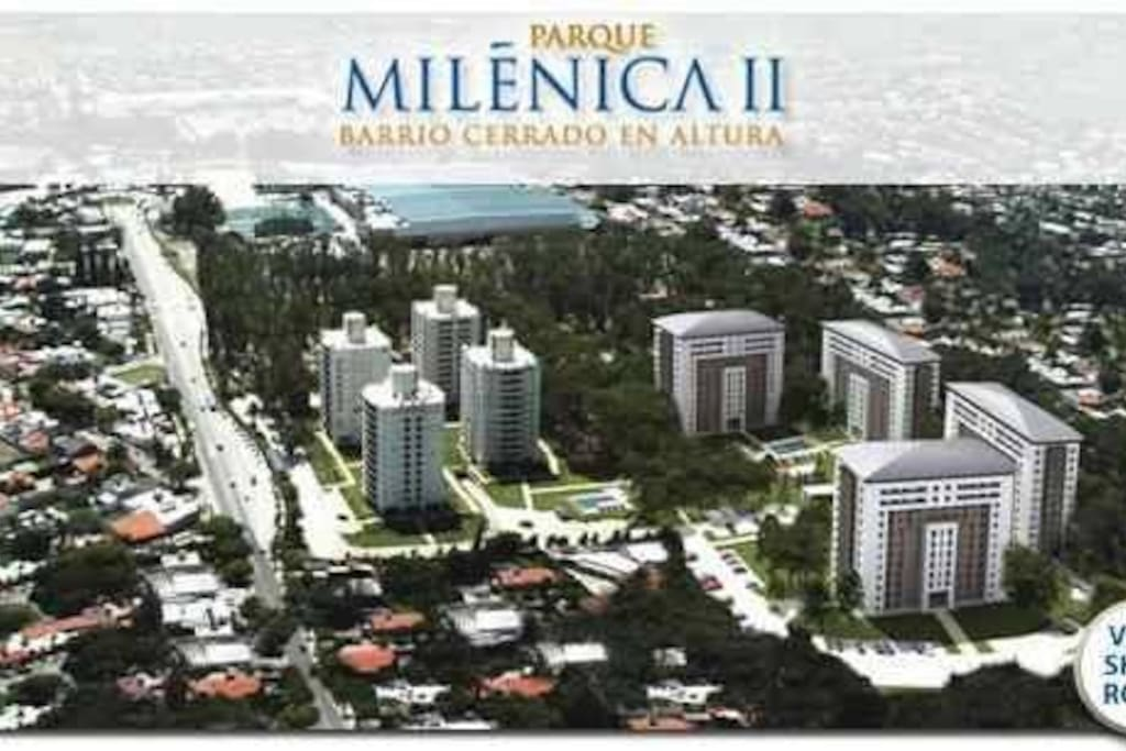 Vista aerea complejo Milenica II