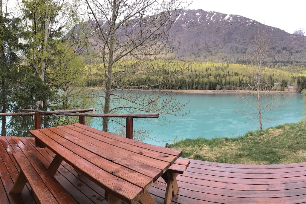 Panoramic view from the doorway of Cabin 4