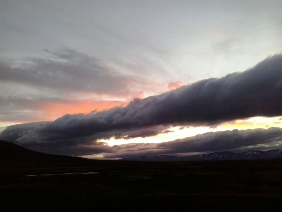 The weather in Iceland...