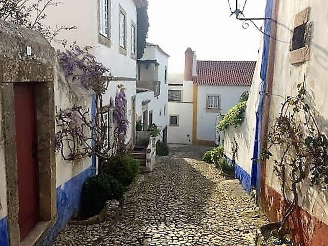 Cozy cottage in Óbidos Castle. 2 BR Sleeps 7