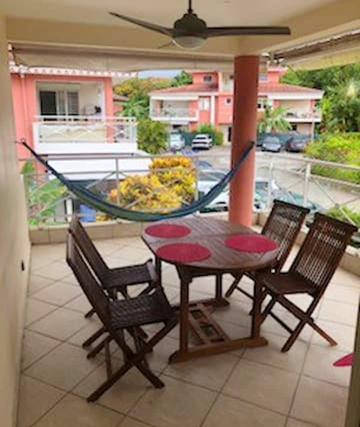 Apartment with 2 bedrooms in Les Trois Ilets, with shared pool, terrace and WiFi - 300 m from the beach