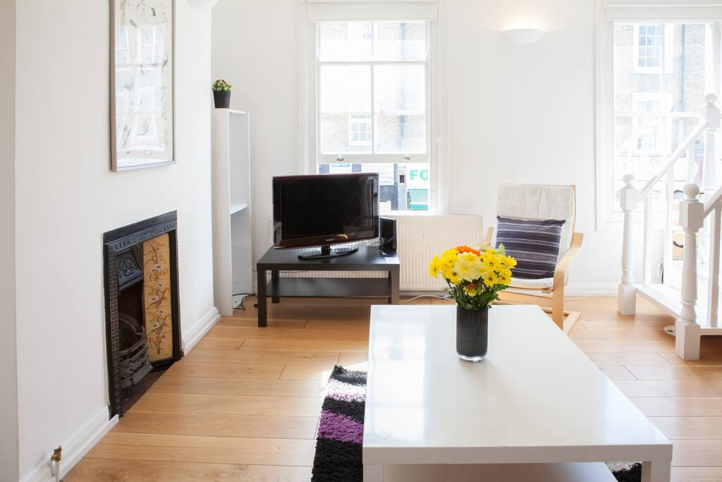 Living room with plenty of light