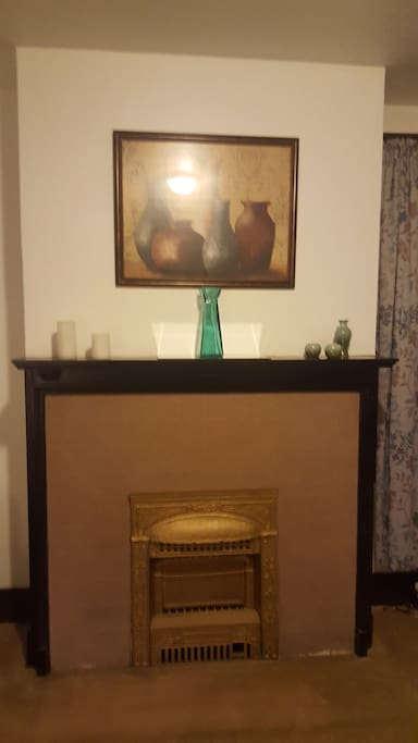 Faux fireplace with original charm