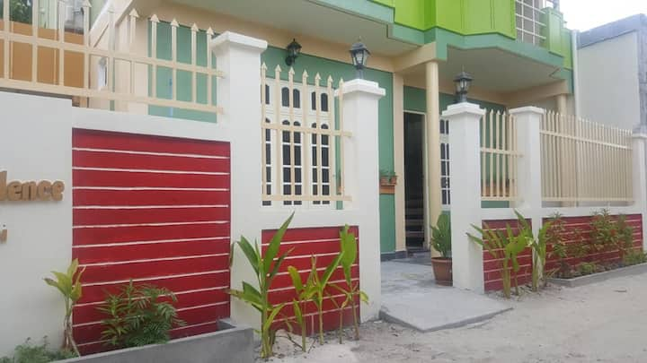 colorful rooms in guesthouse on thimarafushi