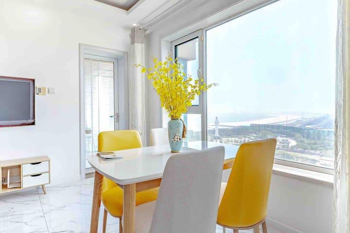 灯塔,万平口景区 海景公寓一室双床
