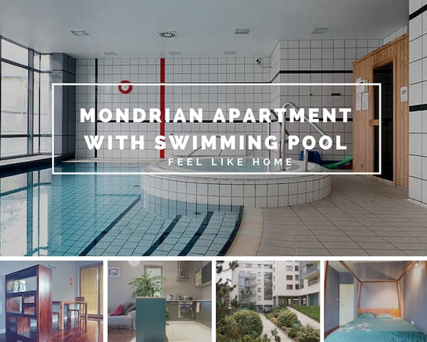 Mondrian Apartment & swimming pool - Warszawa - Wohnung