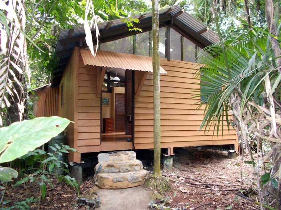 Front view of the Jungle Hut