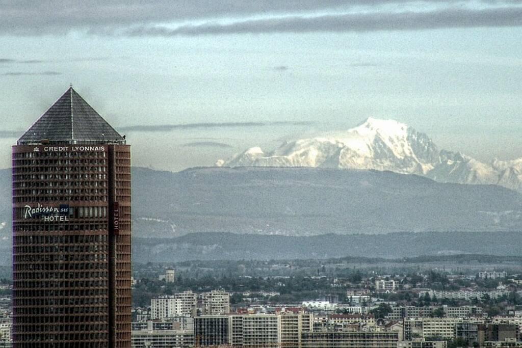 Vue du Mont Blanc par beau temps