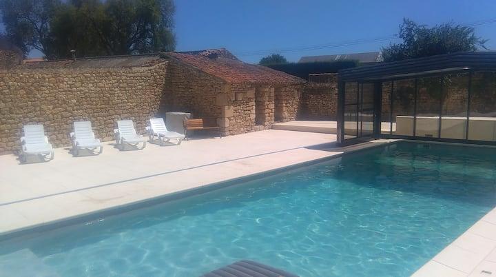 Maison de campagne - piscine privatisée et rivière