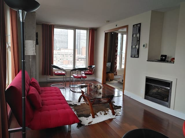 Panorama condo in Hilton, Old Port