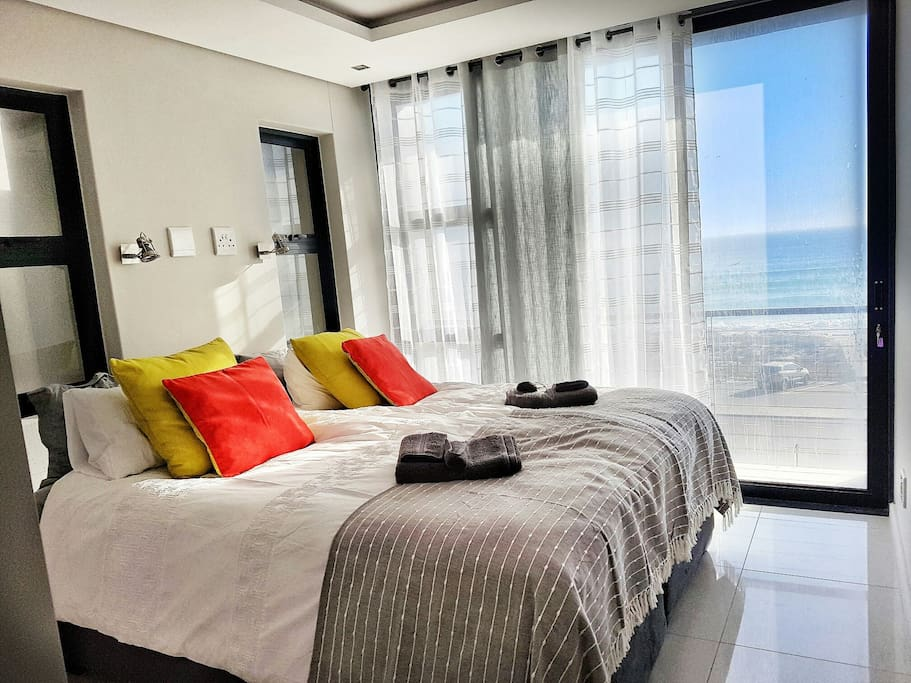 Main Bedroom with balcony and sea views