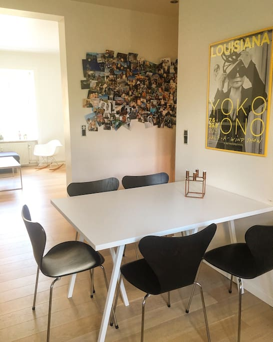 Dinning table in the kitchen