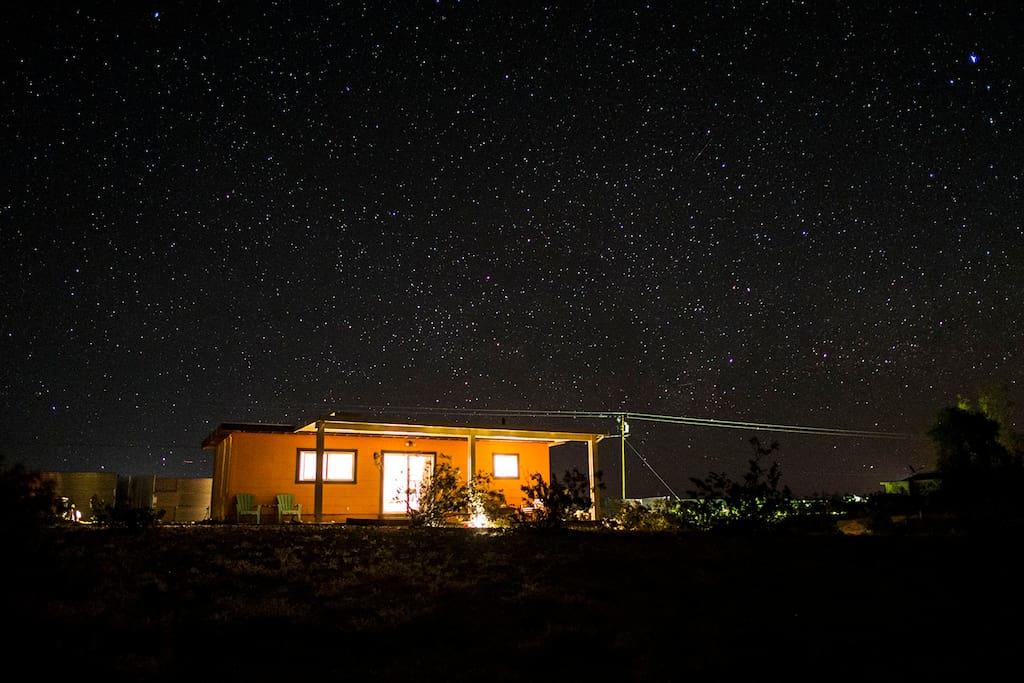 Star-filled night sky