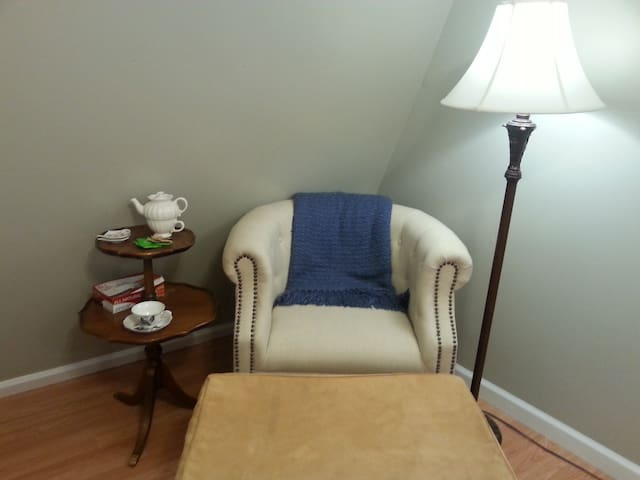 sitting area in dining room