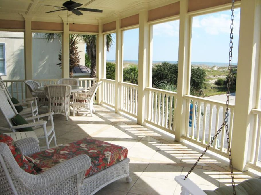 Enjoy the Ocean Breezes, Sights and Sounds of the Atlantic Ocean from the Spacious Front Porch