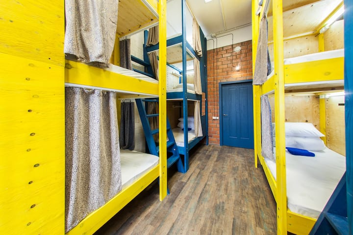 Place in a shared 12-bed room